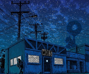 night, simpsons, and the simpsons image
