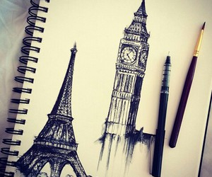 draw, drawing, and effiel tower image