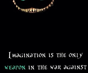 imagination, alice in wonderland, and reality image