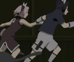 sakura, sasuke, and sasuke uchiha image