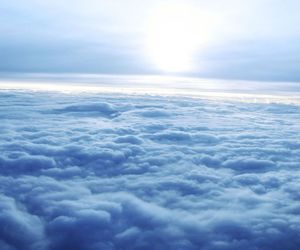 clouds, sky, and blue image