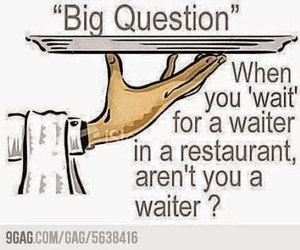 waiter, funny, and lol image