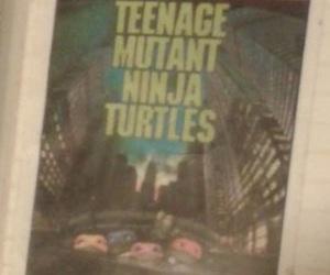 card, ninja turtles, and vintage image