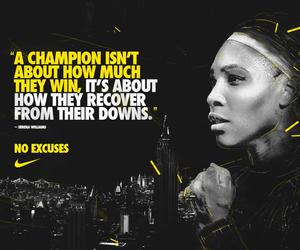 fitness, motivation, and Serena Williams image
