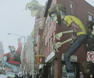 city, gorillaz, and corner image