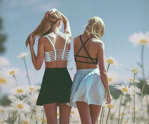 best friends, hair, and fun image