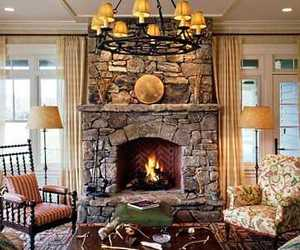 stacked stone fireplace, stone fireplace pictures, and stone fireplace ideas image