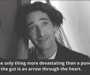 actor, adrien brody, and b&w image