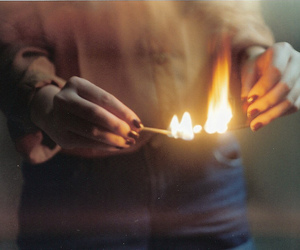fire, girl, and vintage image