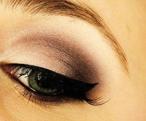 make up, eyes, and makeup image