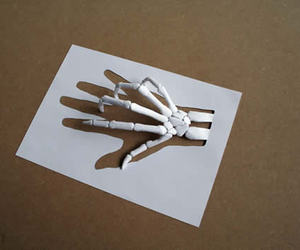 hand, Paper, and art image