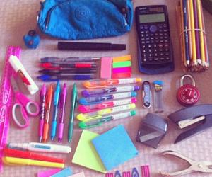 pen, school, and calculator image