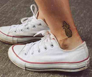 tattoo, converse, and pineapple image