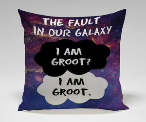 galaxy, pillow, and the fault in our stars image