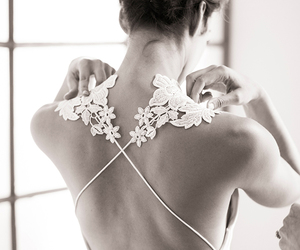 backless, brides, and wedding image