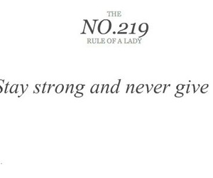 quote, lady, and never give up image