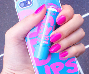 baby lips, pink, and iphone image
