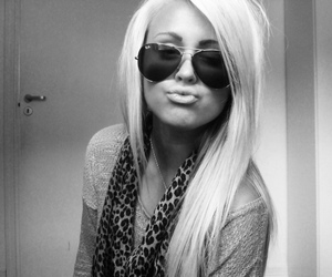 blonde and glasses image