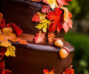 autumn, cake, and cakes image