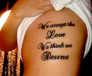 quote and tattoo image