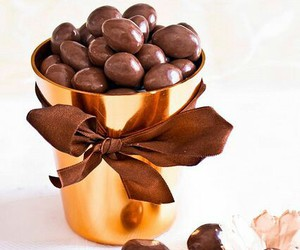 almonds, chocolate, and food image