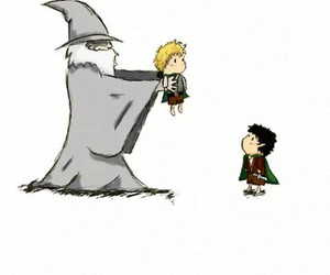 gandalf, LOTR, and frodo image