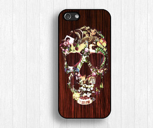 wood iphone 4 case, skull iphone 4s case, and new iphone 5s case image