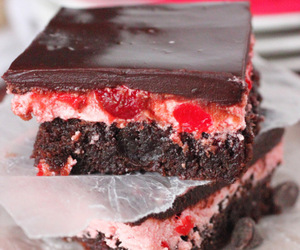 brownies, cherry, and dessert image