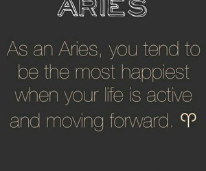 aries, astrology, and quote image