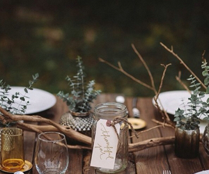 design, forest, and table image