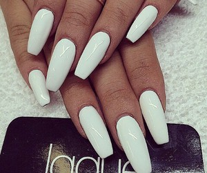 nails, white, and laque image