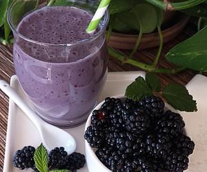 blackberries, bowl, and food image