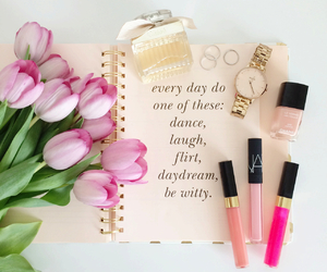 flowers, chanel, and makeup image