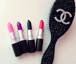 chanel, mac, and lipstick image