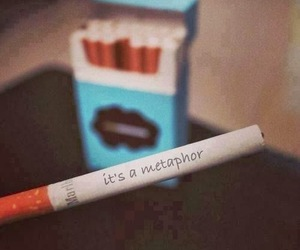 cigaret, the fault in our stars, and we don't smoking image