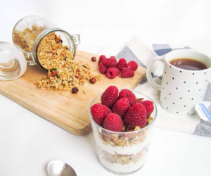 background, berry, and breakfast image
