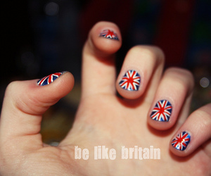 british, britain flag, and omg i love those nails image