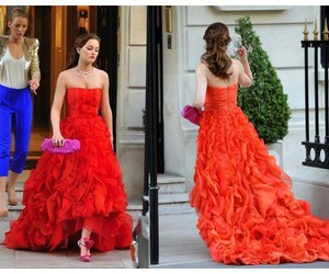 blair dress, blair waldorf, and gossip girl image