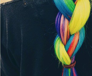 colorful, blue, and braid image