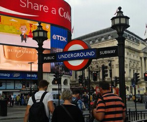 tube, london, and Picadilly Circus image