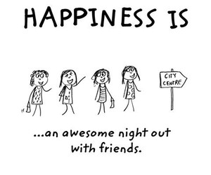 facebook, happiness, and night out image