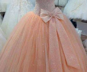 coral, dress, and fashion image