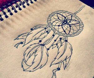 drawing, dream catcher, and art image
