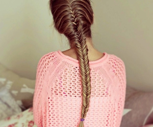 hot pink, fish braid, and swether image