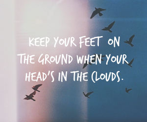 quotes, clouds, and bird image