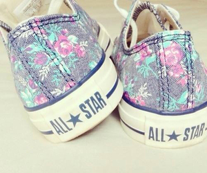 converse, all star, and flowers image