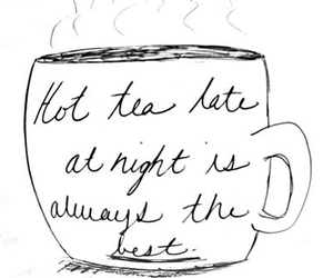 tea, night, and cup image