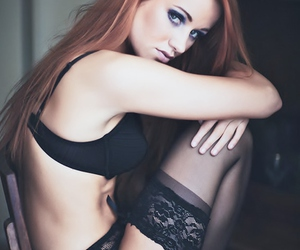 lingerie, panties, and redheads image