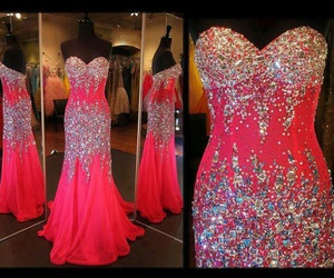 dress, pink, and glitter image