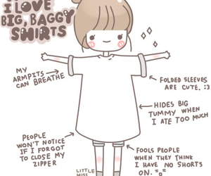 cute, shirt, and baggy image